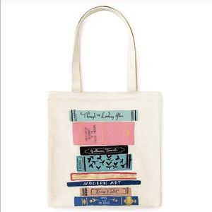 Kate Spade Canvas Book Tote  Stack of Classics
